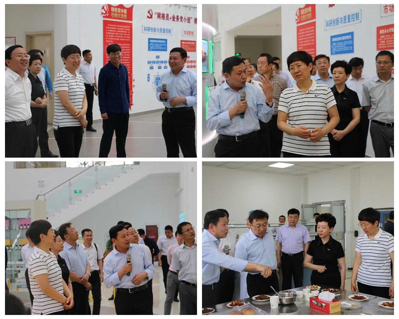 山东省副省长、省工商联主席王随莲一行赴集团调研